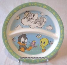 Looney Toons Child Baby Divided Dish Bugs Bunny Daffy Duck Tweety Bird Zak