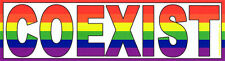 Rainbow Coexist - Magnetic Bumper Sticker / Decal Magnet