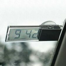 Auto SUV Dashboard Windshield Clear Mini Digital LCD Display Clock With Sucker