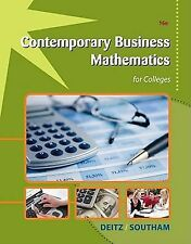 Contemporary Business Mathematics for Colleges by James E. Deitz and James L....