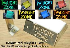 TWILIGHT ZONE PINBALL MOD - CUSTOM MINI PLAYFIELD LAMP  [pinball flipper MOD]