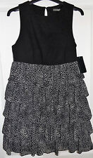 ZARA GREY LEOPARD ANIMAL RUFFLE DRESS M MEDIUM BNWT UK 12