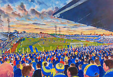 Plough Lane Stadium Art A4 Print - AFC Wimbledon