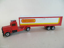 MATCHBOX TP24 CONVOY/LONG HAUL PETERBILT 'MATCHBOX' BOX TRAILER. VGC. TWO PACK