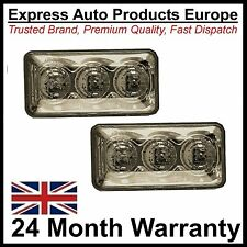 Set of 2 Smoked Tinted LED Side Repeaters SQUARE TYPE for VW Golf MK3