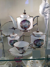 EXCLUSIVE Russian Imperial Lomonosov Porcelain Tea set Ark Palm Neva 2/8 Rare