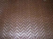 ~5 YDS~CHEVRON BASKETWEAVE~TOOLED FAUX  LEATHER UPHOLSTERY FABRIC FOR LESS~