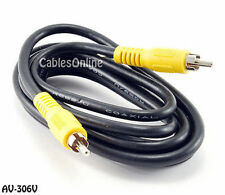 6 ft. 1-RCA Male to 1-RCA Male Composite Video RG59/U Coaxial Cable, AV-306V