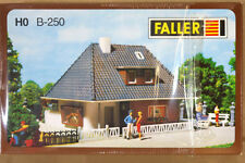 FALLER B-250 HO SCALE SMALL MODERN COUNTRY HOUSE MODEL RAILWAY LAYOUT KIT ni