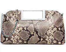 NWT Michael Kors Women's Snake Berkley Large Clutch Purse  EMBOSSED LEATHER