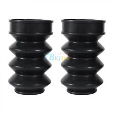 39mm Rubber Front Fork Boots Shock Gaiters For Harley Sportster Dyna XL883/1200