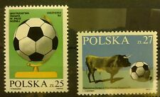 POLAND STAMPS MNH 1Fi2664-65 SC2521-22 Mi2812-13 - World Cup Football-1982,clean