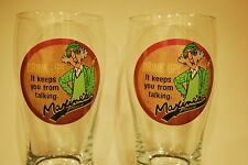 2 Hallmark Maxine Pilsner Beer Glass Drink Up It Keeps You from Talking Funny