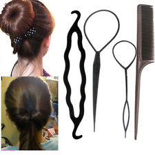 4Pcs Fashion Hair Twist Styling Clip Stick Bun Maker Braid Tool Hair Accessories
