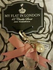 BRIGHTON MY FLAT IN LONDON MFIL DROPLET PINK BOW CHARM