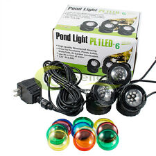 3-LED Super Bright Outdoor Underwater Pond Fountain Spot Light Kits 4-color Lens
