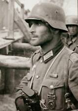 WWII Photo German Soldier in Action  Wehrmacht  WW2 B&W World War Two / 2385