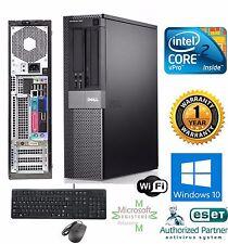FAST Dell COMPUTER DESKTOP 160GB HD Intel C2D 3.00GHZ 8GB RAM Windows 10 PRO 64