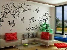 Removable Butterfly  Flower Wall Stickers Decal  Art Vinyl Decor Home Black
