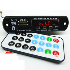 DC 12v Bluetooth Receiver mp3 Decoder audio Board FM Radio SD AUX + Remote wire