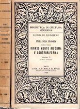 DE RUGGERO STORIA FILOSOFIA RINASCIMENTO RIFORMA E CONTRORIFORMA 1950 PA464)