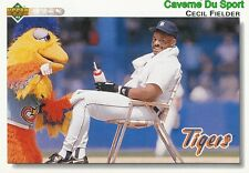 255 CECIL FIELDER DETROIT TIGERS  BASEBALL CARD UPPER DECK 1992