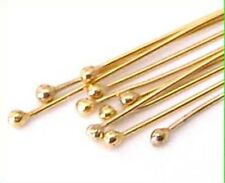 "25pcs 14K Yellow Gold Filled ball dot bead Head pin 24 gauge 1.5""  headpin GF16"