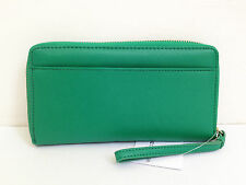 BNWT Authentic LIZ CLAIBORNE Zip Around Clutch Wallet Wristlet in Green