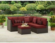 Outdoor Patio Sectional Sofa Set 3 PC Wicker Furniture Deep Seating Garden Deck