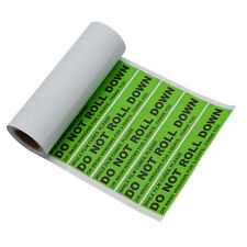"100 Warning Labels Window Tint Curing Peel Sticker Adhensive ""DO NOT ROLL DOWN"""