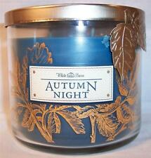 Bath and Body Works 3 wick 14.5 oz  Candle  Autumn Night decorative Leaf Lid