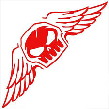 CAR MOTORCYCLE DECORATION DECALS STICKER RED FLY SKULL STICKER