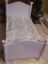 American Girl Bitty Baby Twins Trundle Bed! White with Hearts.