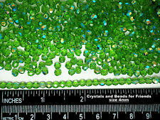 600 Preciosa Czech Glass Fire Polished Round Beads 4mm Peridot AB, green AB ctd.