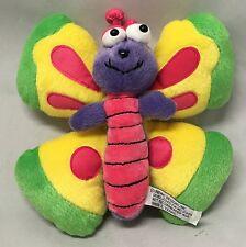"""7"""" Pink &  Purple Butterfly Stuffed Plush w/ Yellow & Green Wings by Unipak"""