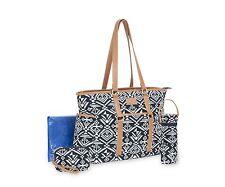 Carter's Aztec Jacquard Studio Tote Diaper Bag