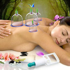 12 Cups Acupuncture Set Chinese Medical Vacuum Cupping Magnetic Therapy Suction