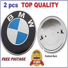 2 X Badge Emblem Logo Boot Bonnet Trunk Hood For BMW E30 E36 E39 E46 E60 E38 X5