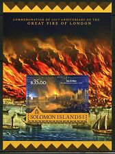 SOLOMON ISLANDS  2016 350th ANNIVERSARY OF THE GREAT LONDON FIRE SHEET  MINT NH