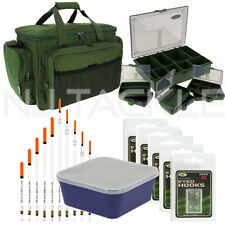 NGT Carp Fishing Insulated Carryall,Tackle Box 100 Hooks Bait box & Mixed Floats