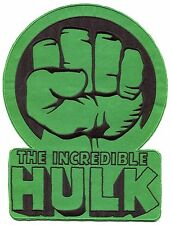 "THE INCREDIBLE HULK Large 10"" EMBROIDERED BACK PATCH **FREE SHIPPING** marvel"