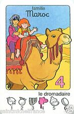 Dromedary Desert Dromadaire  MAROC Morocco PLAYING CARD CARTE A JOUER