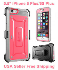 100% Genuine Supcase iPhone 6 Plus/6S Plus Full Body Rugged Holster Case Pink