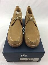 Joseph Abboud MEN'S Winston Lace Up Shoes Loafers Sand Suede Tan Beige Size 10.5