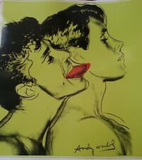 QUERELLE lithograph on Art Paper PLATE SIGNED ANDY WARHOL green