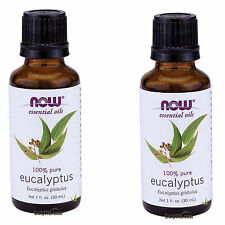 2 x NOW 100% Pure Eucalyptus Essential Oil 1 oz 30 mL Eucalyptus globulus, FRESH