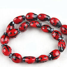 1String Insect Bettle Lampwork Glass Loose Beads Findings Fit Jewlery Making L