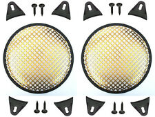 """2X Gold 6.5"""" inch Sub Woofer Speaker Mesh WAFFLE GRILL Protective Covers VWLTW"""