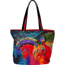 Laurel Burch Wild Horses of Fire Shoulder Tote - Wild Shoulder Bag NEW