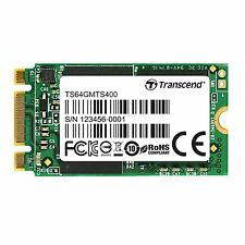 64GB Transcend M.2 NGFF 42mm SATA III 6Gbps SSD MTS400 MLC Flash 2242